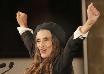 Ángela Molina da las gracias al cine al recoger el Premio Nacional de Cinematografía