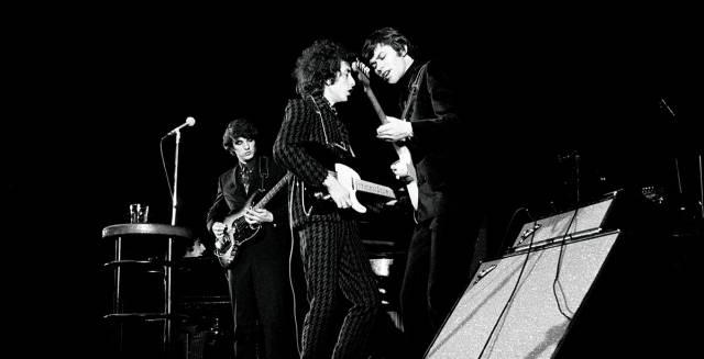 Bob Dylan en un concierto de 1966.