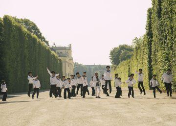 Un grupo de los niños cantores de Viena, en la capital austriaca.