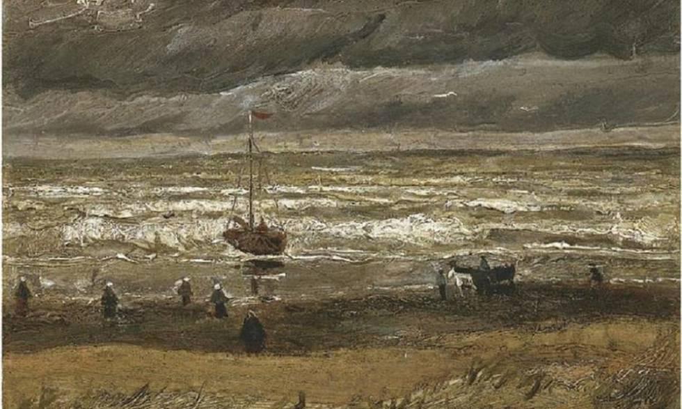 """Resultado de imagen para """"Vista del mar desde Scheveningen"""" y """"Feligreses saliendo de la iglesia calvinista de Nuenen"""""""