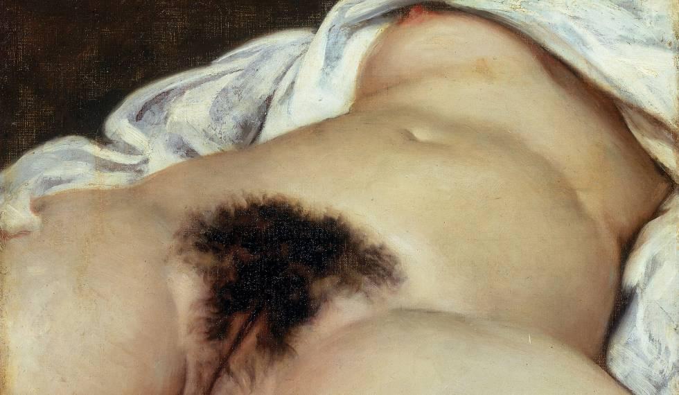 'El origen del mundo' (1886), obra del pintor Gustave Courbet que se exhibe en el Museo de Orsay en Paris.rn