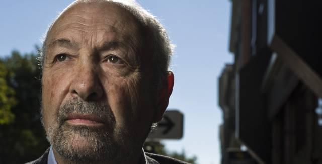 El escritor peruano Javier Vásconez en Madrid.
