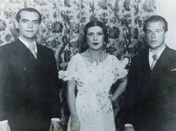 Lorca con La Argentinita y Rafael Alberti.