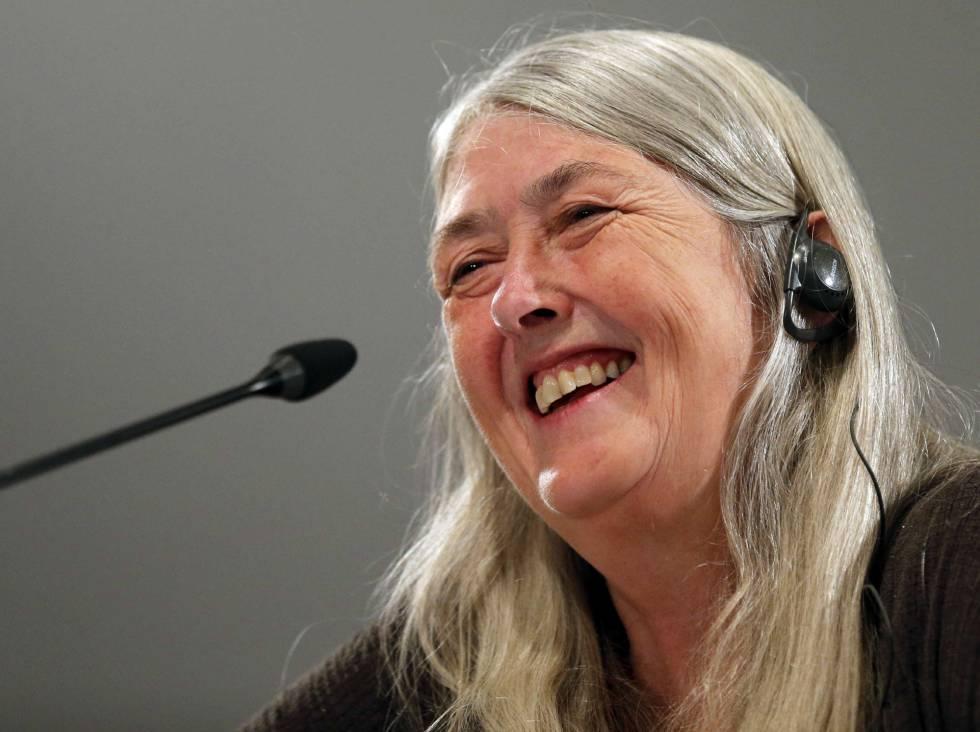La historiadora británica Mary Beard, Premio Princesa de Asturias de Ciencias Sociales 2016, durante la rueda de prensa  en Oviedo.