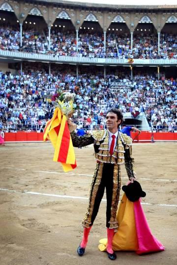 José Tomás, antes de la última corrida de toros celebrada en la Monumental de Barcelona, el 25 de septiembre de 2011.