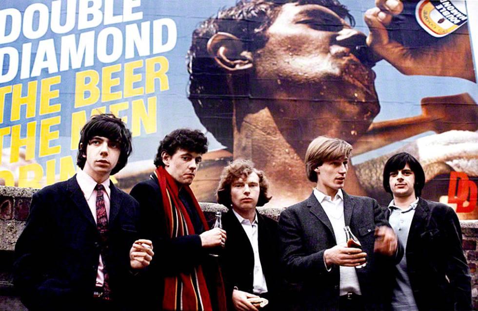 La banda Them, con Van Morrison en el centro.