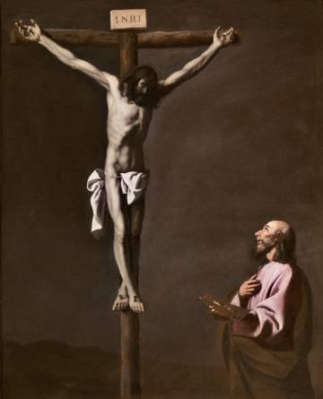 Cristo crucificado contemplado por un pintor (1650). Francisco de Zurbarán
