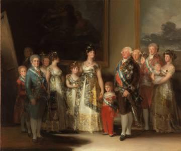 'La familia de Carlos IV' (1800). Francisco de Goya.