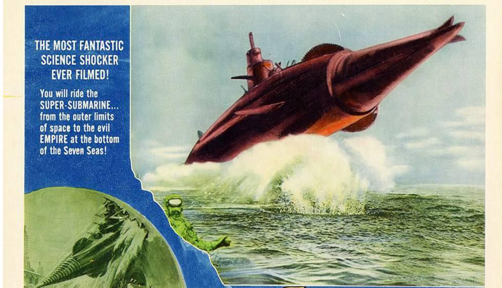 Afiche de 'Atragon', el filme.