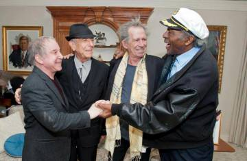 Paul Simon, Leonard Cohen, Keith Richards e Chuck Berry.