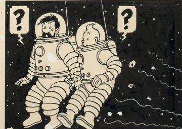 Una plancha de Tintín bate récords en una subasta: 1,55 millones de euros