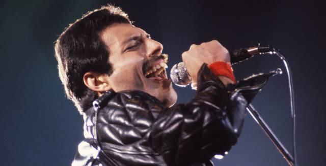 Freddie Mercury, en un concierto.
