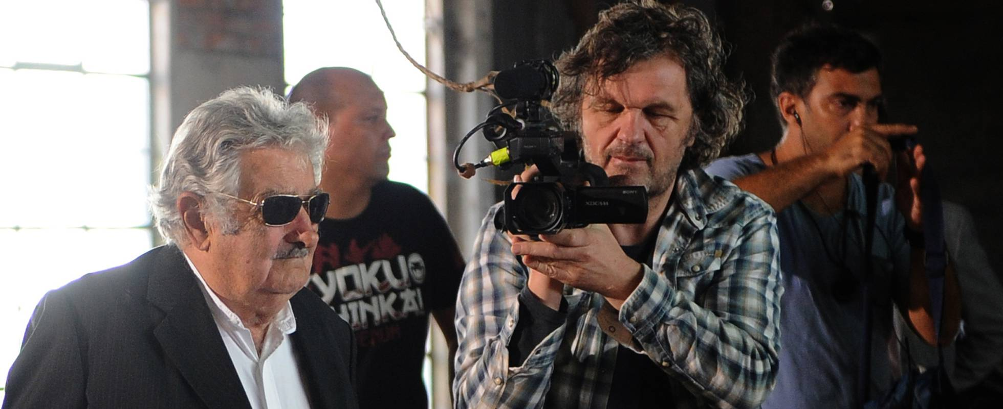 O ex-presidente uruguaio José Mujica, filmado por Emir Kusturica para a obra sobre sua vida