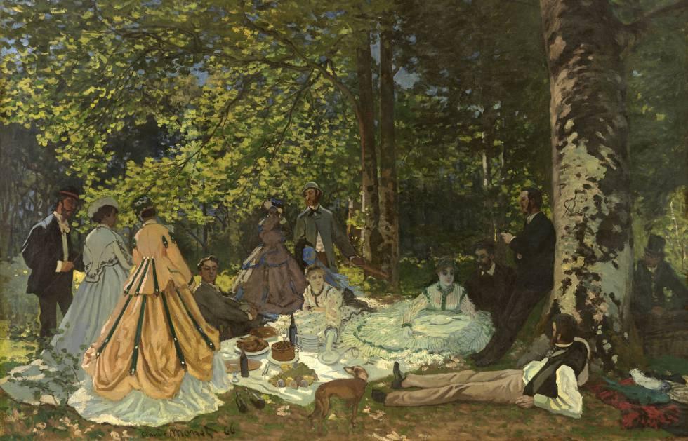 Cuadro de Monet en la Fundación Louis Vuitton de París.