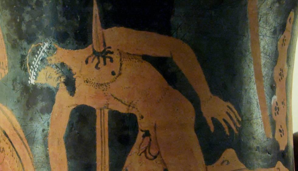 Áyax se da muerte con su espada, siglos VI-IV antes de Cristo.