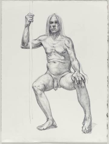 Uno de los retratos de Iggy Pop.