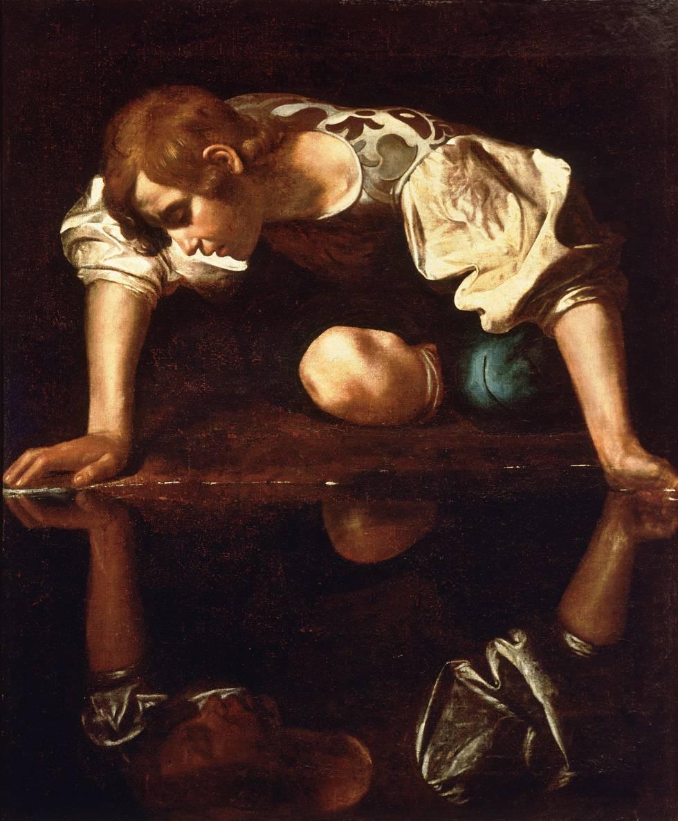 'Narciso', de Caravaggio (1597-99), conservado en Roma.