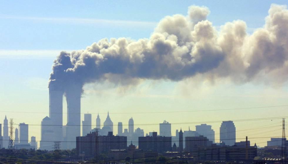 Vista del atentado a las Torres Gemelas el 11 de septiembre de 2001.