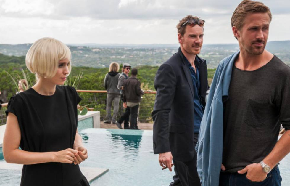 Rooney Mara, Michael Fassbender y Ryan Gosling, en 'Song to Song, de Terrence Malick.