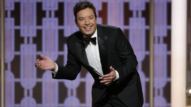 Jimmy Fallon, durante la gala de los Globos de Oro.