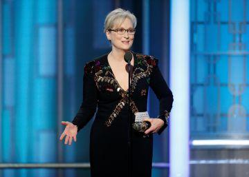 Meryl Streep conmueve en los Globos de Oro y ataca a Trump