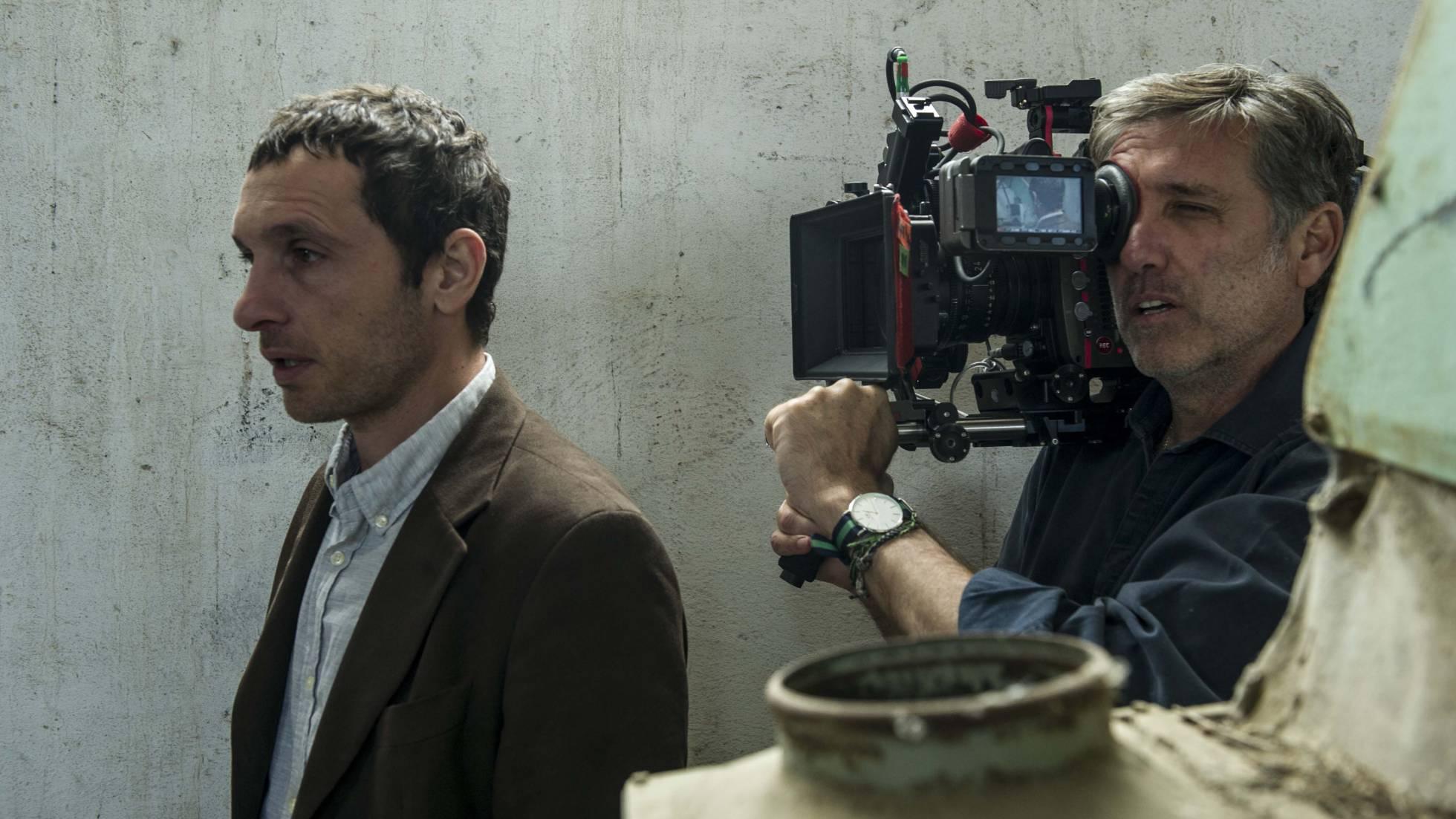 Pablo Derqui y Emilio Aragón, en el rodaje de 'Pulsaciones'