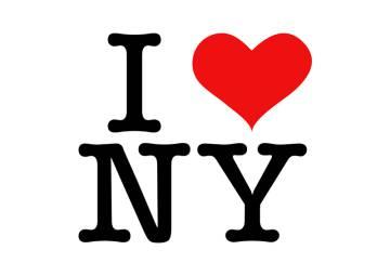 El logotipo 'I love NY'.