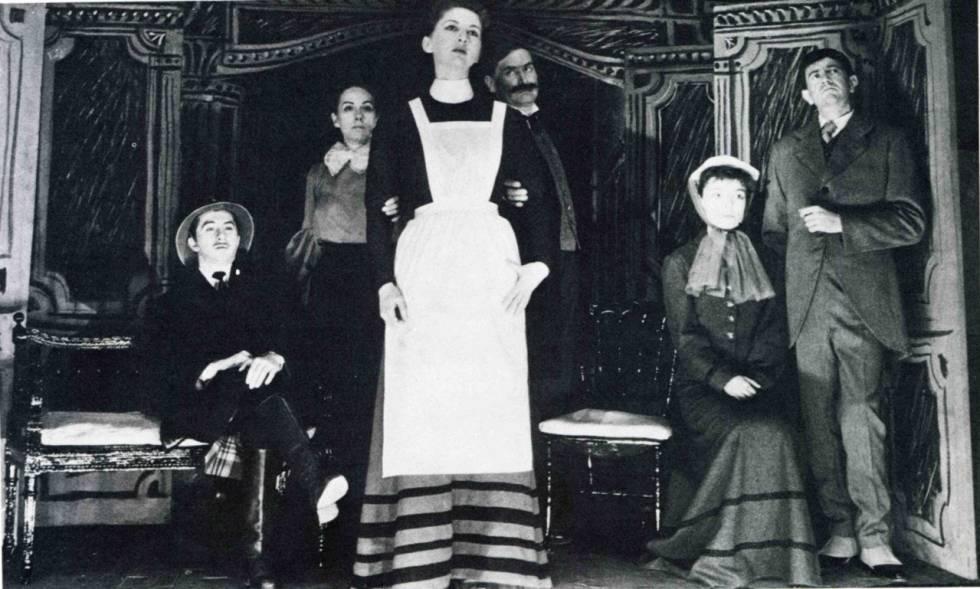 El montaje original de 'La cantante calva', en su reestreno de 1957.