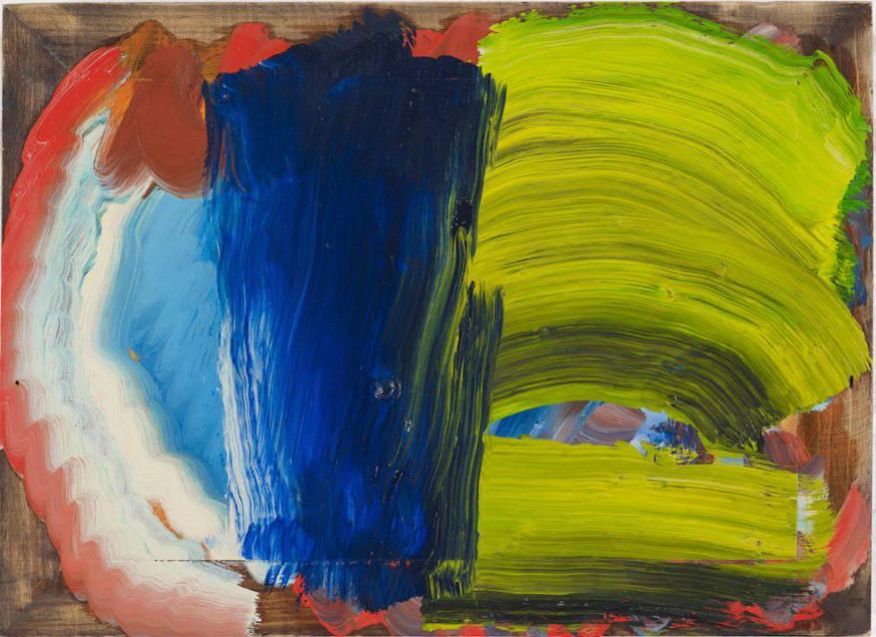 Una pintura de Howard Hodgkin, cuya obra expone en París Larry Gagosian.