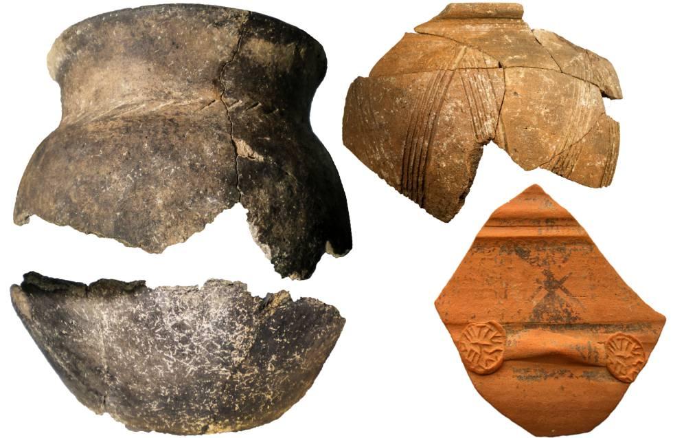 Vasos cerámicos de la segunda Edad del Hierro.