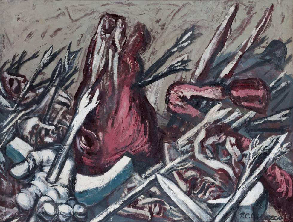 La obra de Orozco, 'Los Teules IV'
