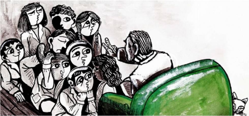 Ilustração da história infantil 'El Secreto de Borges'.