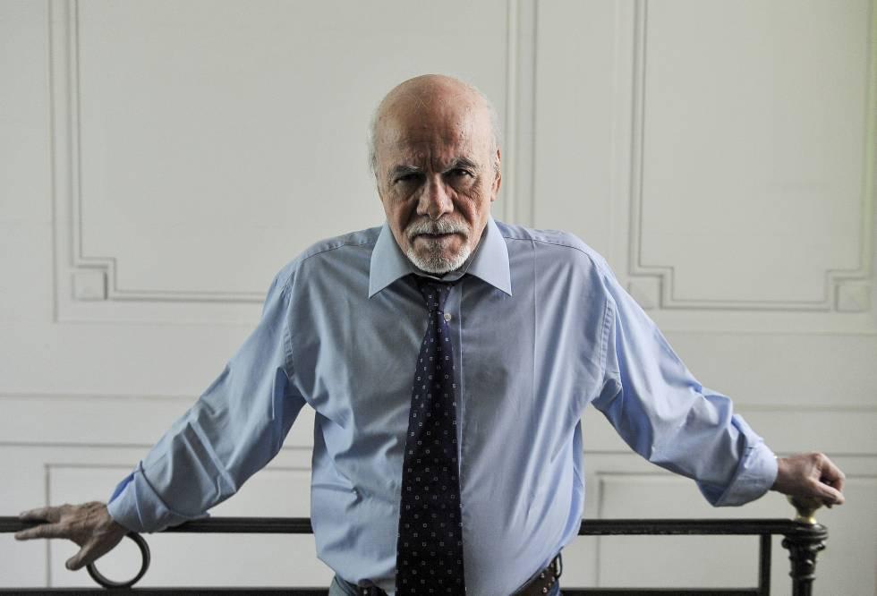 El escritor argentino Abelardo Castillo en una foto de diciembre de 2016.