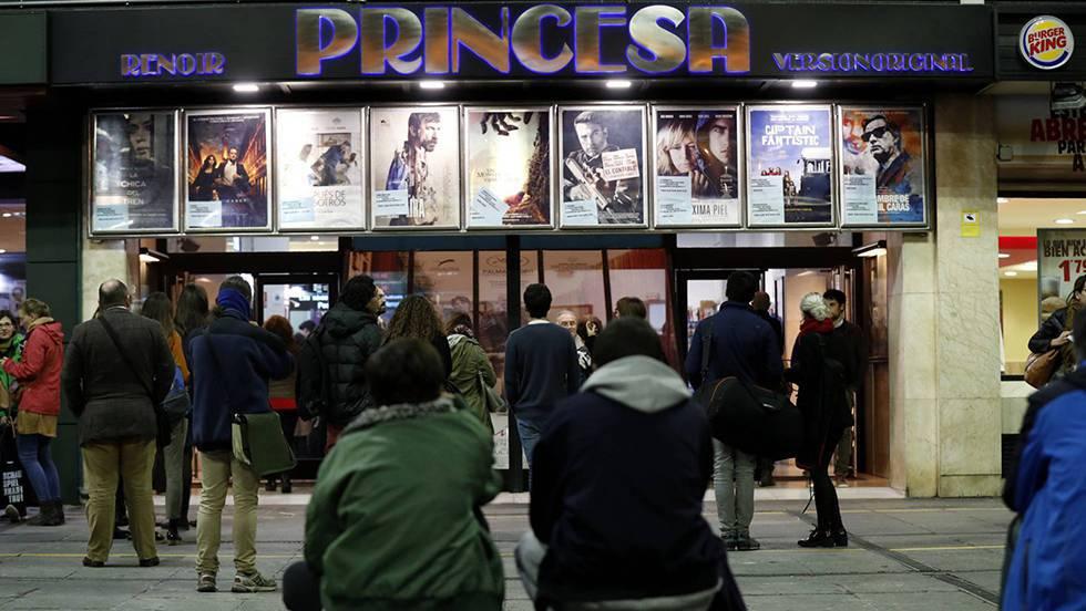 Entrada a un cine en la anterior Fiesta del Cine, en otoño de 2016.