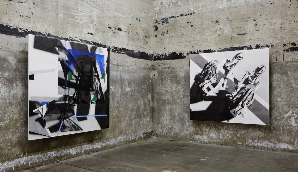 Obras de Avery Singer en la exposición de la Boros Collection, en Berlín.