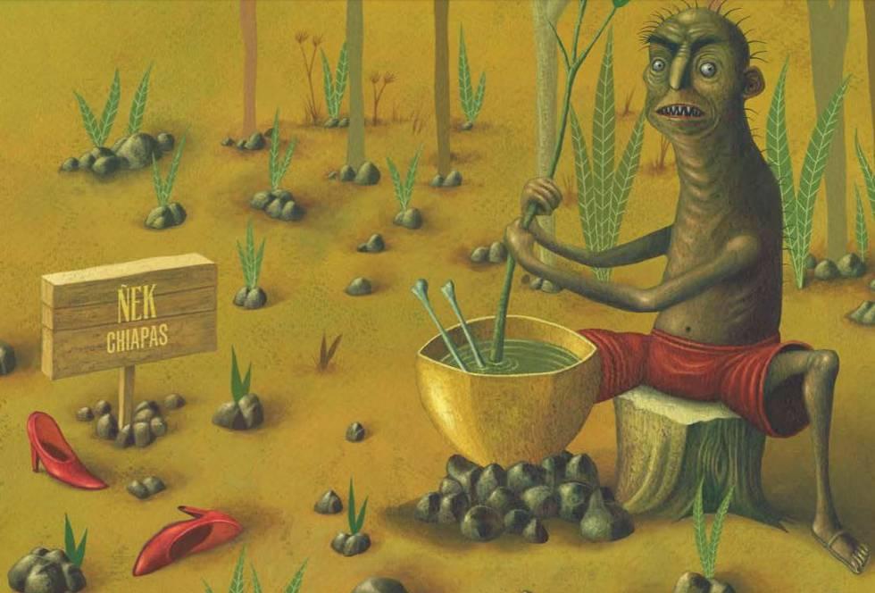 Ilustración del Ñek.