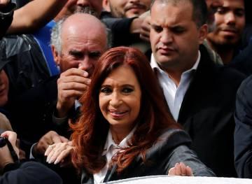 Cristina Fernández, en abril.