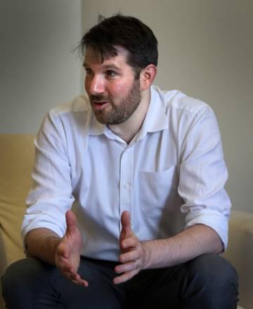 Eli Pariser en la sede de Fundacion Telefonica en Madrid.