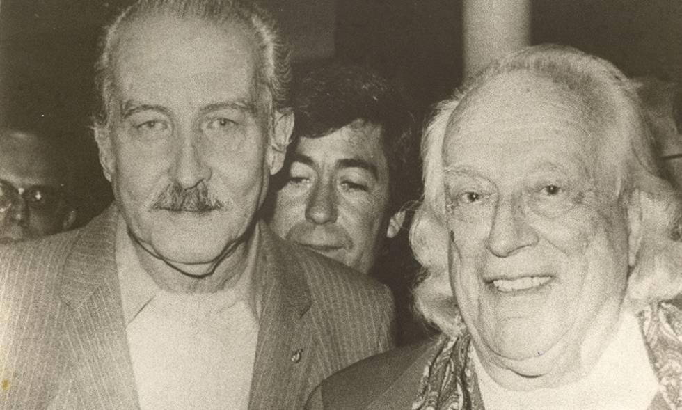 Agustín Millares Sall (izquierda), con Rafael Alberti.
