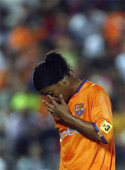 Ronaldinho, desolado