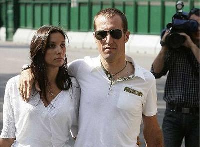 Cristian Moreni con su mujer