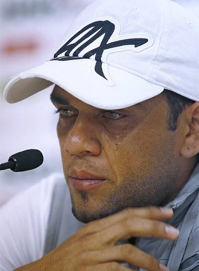 Dani Alves, en su despedida del Sevilla
