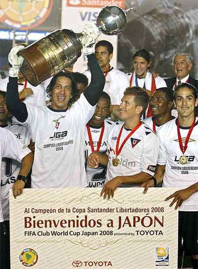 Liga de Quito celebra el título en Maracaná