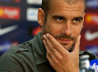 Josep Guardiola, entrenador del Barcelona.