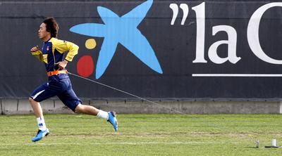 Shunsuke Nakamura, durante un entrenamiento del Espanyol.