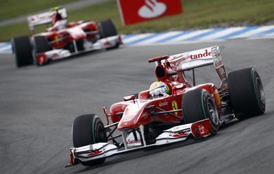 Fernando Alonso, de Ferrari, durante el Gran Premio de Alemania.