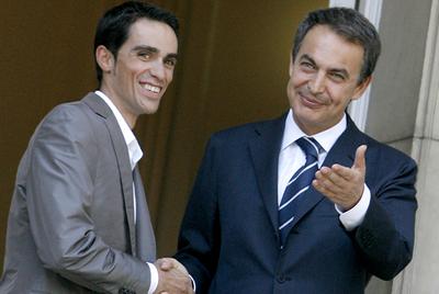 Contador y Zapatero
