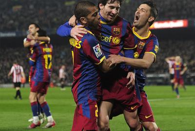 Messi celebra el gol del triunfo