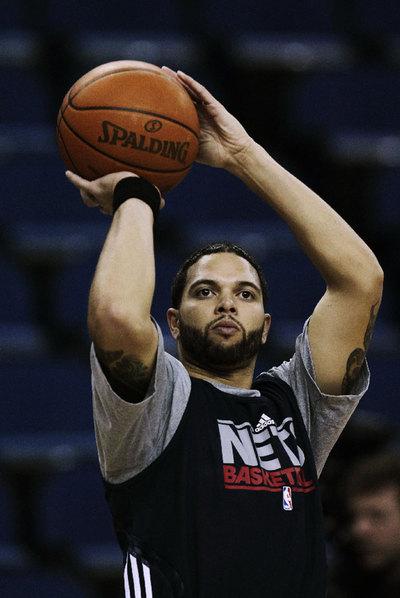 DerDeron Williams, durante un entrenamiento con los Nets.