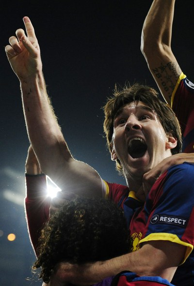 FOTOGALERIA: Messi, feliz